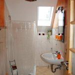 Badezimmer in der Ferienwohnung Alte Scheune