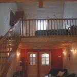 Wohnzimmer und Schlafzimmer in der Ferienwohnung Alte Scheune Niederehe