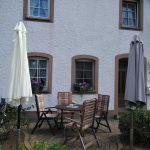 Erholungsort Niederehe Terrasse der Ferienwohnung Alte Scheune